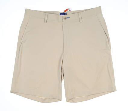 New Mens Stitch Tech Golf Shorts 36 Khaki MSRP $90 000SA0600