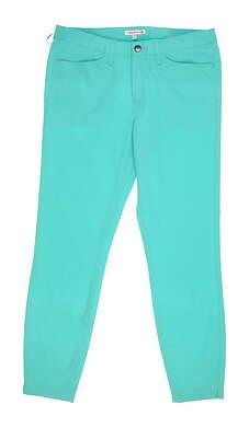 New Womens Peter Millar Golf Pants 6 Green MSRP $100 LF17EB45