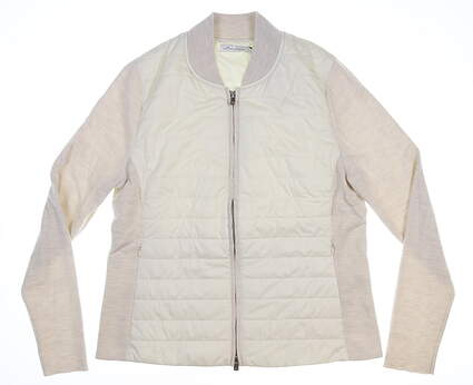 New Womens Peter Millar Jacket Medium M Tan MSRP 70 LF19X07
