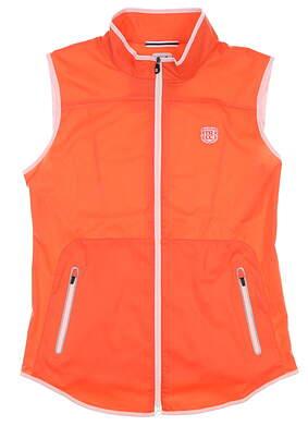 New W/ Logo Womens Footjoy Shell Golf Vest Medium M Orange MSRP $142