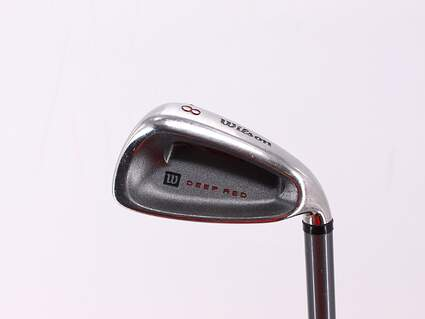 Wilson Staff Deep Red Single Iron 8 Iron Stock Graphite Shaft Graphite Ladies Right Handed 35.75in