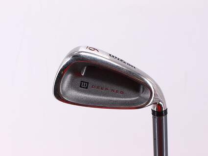 Wilson Staff Deep Red Single Iron 6 Iron Stock Graphite Shaft Graphite Ladies Right Handed 36.75in