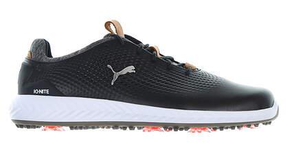 New Mens Golf Shoe Puma IGNITE PWRADAPT Leather Medium 7 Black MSRP $150 190581 02