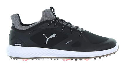 New Mens Golf Shoe Puma IGNITE PWRADAPT Wide 7.5 Black MSRP $150 190991 01