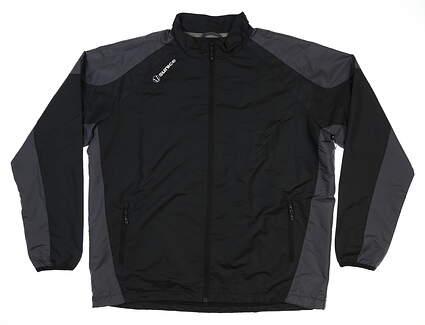 New Mens SUNICE Golf Rain Jacket Large L Black MSRP $100 S52000