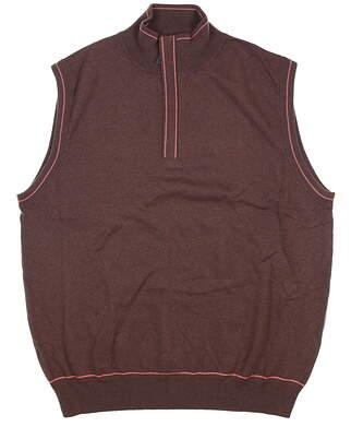 New Mens G-Mac 1/2 Zip Sweater Vest Medium M Brown MSRP $92