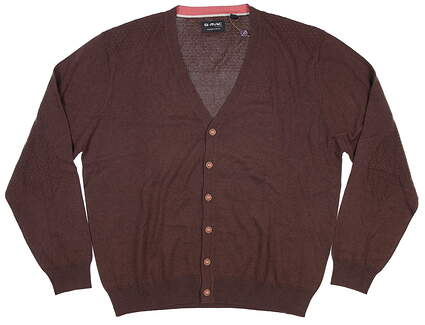 New Mens G-Mac Button Up Cardigan Large L Brown MSRP $120