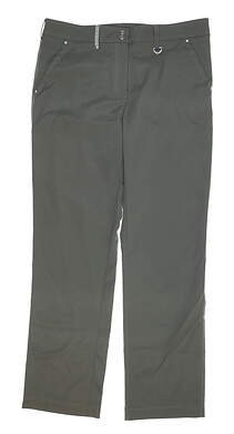 New Womens GG BLUE Cool Golf Pants 12 Olive MSRP $70 P1354243