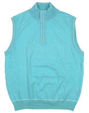 New Mens G-Mac 1/4 Zip Sweater Vest Large L Blue MSRP $92
