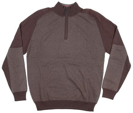 New Mens G-Mac 1/4 Zip Sweater Medium M Brown MSRP $120