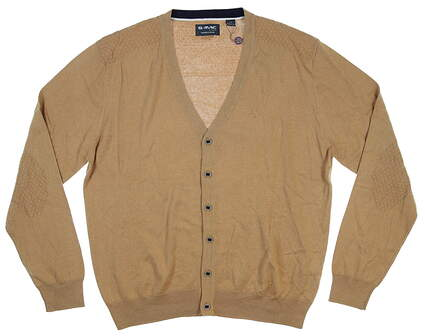 New Mens G-Mac Button Up Cardigan Large L Flax MSRP $120