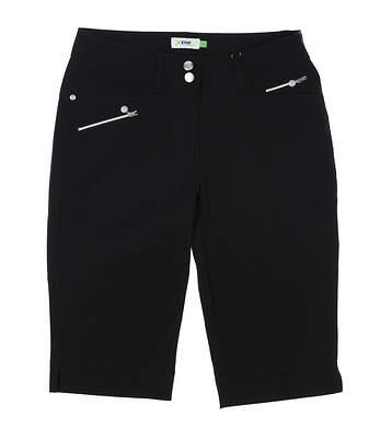 New Womens Daily Sports Bermuda Golf Shorts 8 Black MSRP $86 583216