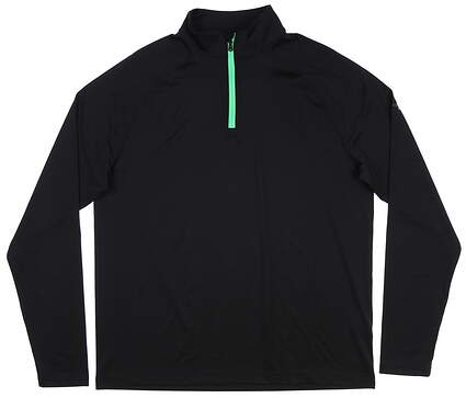 New Mens Under Armour 1/4 Zip Golf Pullover Large L Black MSRP $85
