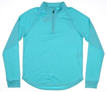 New Womens Under Armour 1/4 Zip Golf Pullover Medium M Blue MSRP $70 UW1465