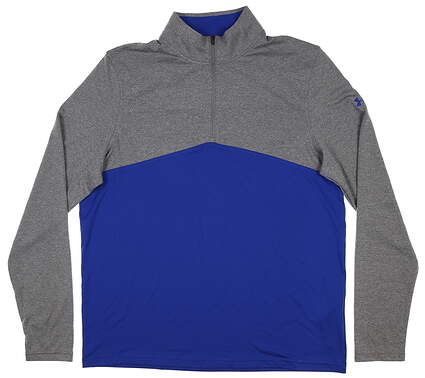 New Mens Under Armour 1/4 Zip Golf Pullover Large L Blue MSRP $80