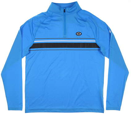 New W/ Logo Mens Under Armour 1/4 Zip Golf Pullover Large L Blue MSRP $70