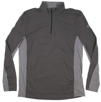 New Mens Under Armour 1/4 Zip Golf Pullover Large L Gray MSRP $85
