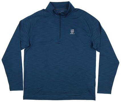 New W/ Logo Mens Under Armour 1/4 Zip Golf Pullover Large L Green MSRP $65