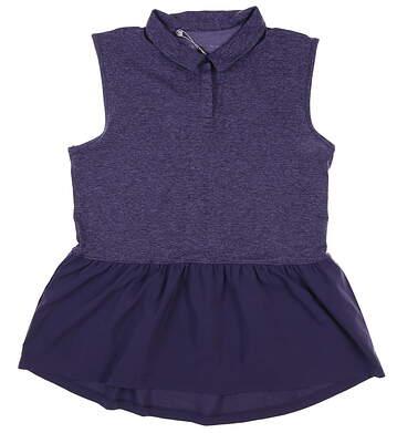 New Womens Under Armour Sleeveless Golf Polo Medium M Purple MSRP $70