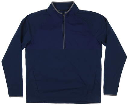 New Mens Under Armour 1/4 Zip Golf Pullover Large L Navy Blue MSRP $85