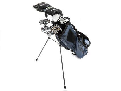 TaylorMade & Titleist Complete 13pc Golf Club Set Stiff Steel Right Hand w/Stand Bag