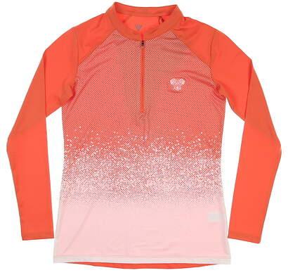 New W/ Logo Womens Level Wear 1/4 Zip Pullover X-Small XS Orange MSRP $72 BL12L