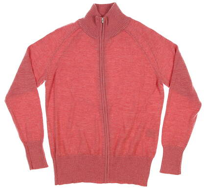 New Womens Peter Millar Full Zip Cashmere Sweater Medium M Pink MSRP $365