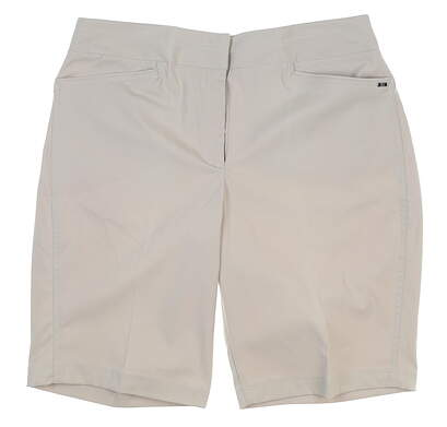 "New Womens Tail 21"" Outseam Tailored Shorts 16 Khaki MSRP $80 GX4356"