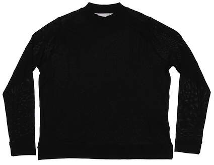 New Womens Peter Millar Merino Wool Sweater Large L Black MSRP $198 LF18S11