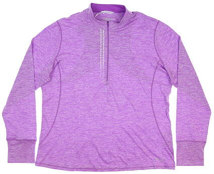 New Womens Cutter & Buck Annika 1/4 Zip Pullover Medium M Purple MSRP $110 LAK00110
