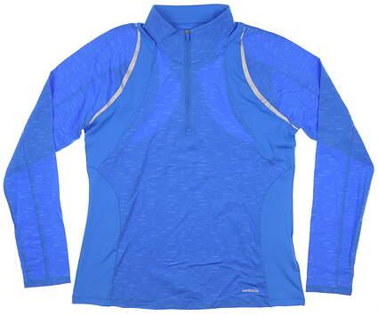 New Womens Cutter & Buck Annika 1/2 Zip Pullover Medium M Blue MSRP $110 LAK00080
