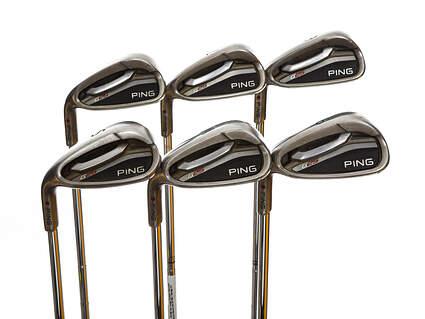 Ping G25 Iron Set 6-PW SW True Temper Dynamic Gold X100 Steel X-Stiff Left Handed Maroon Dot 39.75in