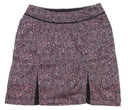 New Womens Greg Norman Monarchy Knit Pleat Skort Large L Pink MSRP $79
