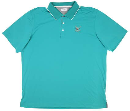 New W/ Logo Mens Adidas Golf Polo X-Large XL Green MSRP $75 BC7240