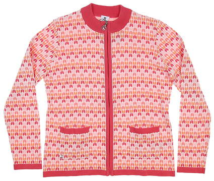 New Womens Daily Sports Amir Zip Up Cardigan Large L Watermelon MSRP $125 943510