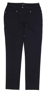 New Womens Daily Sports Lyric Golf Pants 10 Black MSRP $140 001265
