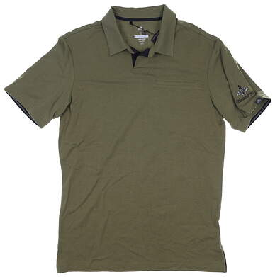 New W/ Logo Mens Adidas Golf Polo Small S Green MSRP $65 CY4741