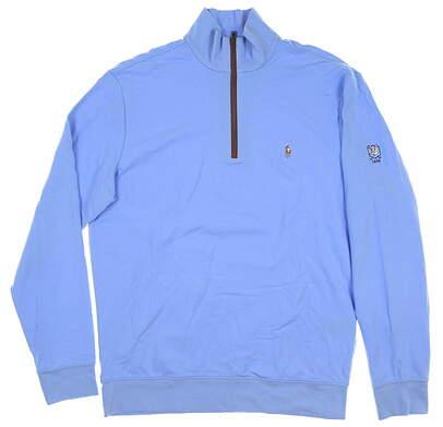 New W/ Logo Mens Ralph Lauren 1/4 Zip Golf Pullover Medium M Blue MSRP $150