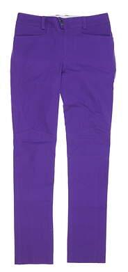 New Womens Ralph Lauren RLX Pants 14 Purple MSRP $89 6866774