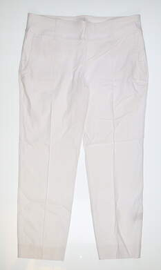 New Womens Jo Fit Cropped Pants X-Large XL White MSRP $89