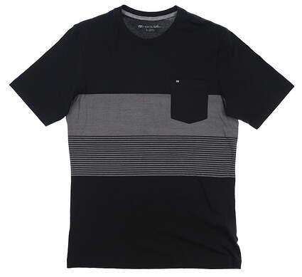 New Mens Travis Mathew T-Shirt Small S Black MSRP $60