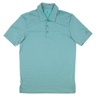 New Mens Adidas Golf Polo Small S Green MSRP $65 DQ2368