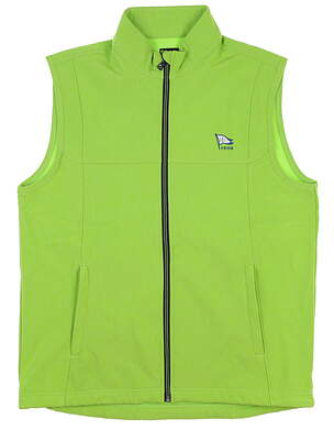 New W/ Logo Mens Greg Norman Full Zip Vest Large L Green MSRP $88 G7S7V150