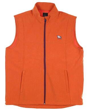 New W/ Logo Mens Greg Norman Full Zip Vest Large L Orange MSRP $88 G7S7V150