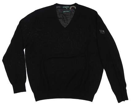 New W/ Logo Mens Fairway & Greene Merino Sweater Large L Black MSRP $138 A11140