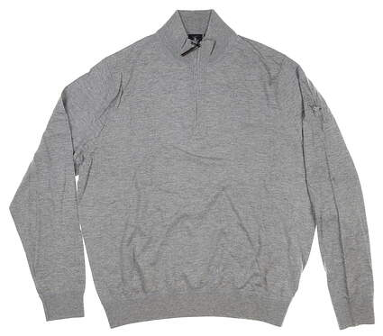 New W/ Logo Mens Fairway & Greene McCallan Blend 1/4 Zip Sweater M Gray MSRP $200 H31290