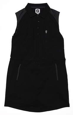 New W/ Logo Womens Footjoy Golf Dress Large L Black MSRP $125 23907