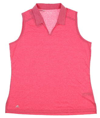 New Womens Adidas Sleeveless Golf Polo X-Large XL Pink MSRP $60 CF5516