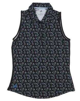 New Womens Adidas Ultimate Print Sleeveless Polo Small S Multi MSRP $55 DZ6302