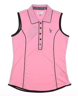 New W/ Logo Womens Greg Norman Sleeveless Polo Small S Pink MSRP $70